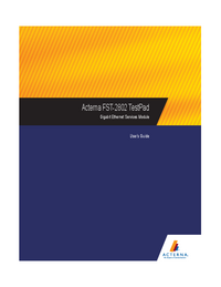 Manual del usuario Acterna FST-2802