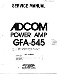 Manuale di servizio Adcom GFA-545