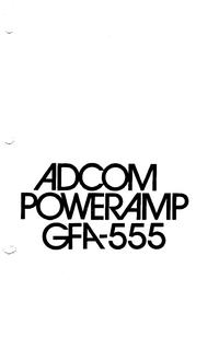 Manuel de l'utilisateur Adcom GFA-555