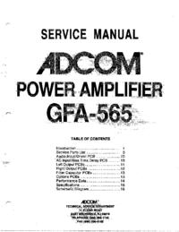 Manual de servicio Adcom GFA-565