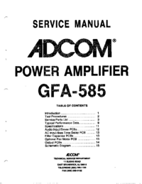 Service Manual Adcom GFA-585