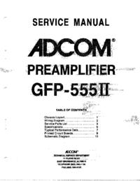 Serviceanleitung Adcom GFP-555II