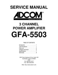 Instrukcja serwisowa Adcom GFA-5503