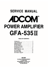 Adcom-9418-Manual-Page-1-Picture