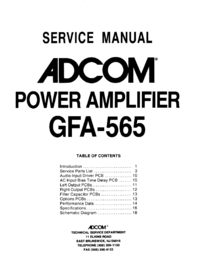Adcom-9420-Manual-Page-1-Picture