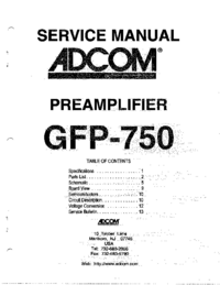 Service Manual Adcom GFP-750