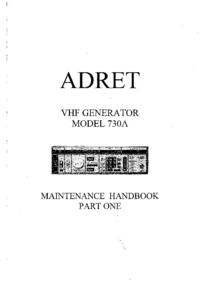 Manual de serviço Adret 730A