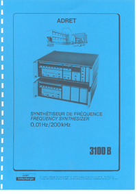User Manual Adret 3100 B