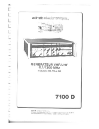 User Manual Adret 7100D