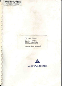 Service and User Manual Advance OS250