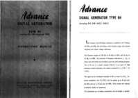 Service and User Manual Advance B4A/C