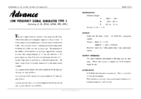 Service and User Manual Advance J1/NA