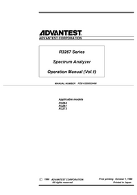 User Manual Advantest R3273