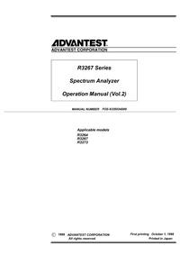 Manual del usuario Advantest R3264