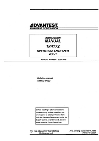 Advantest-5736-Manual-Page-1-Picture