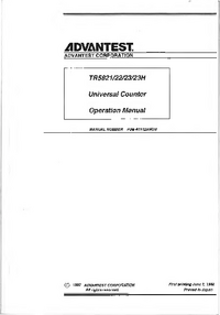 User Manual Advantest TR5823H