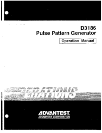 User Manual Advantest D3186