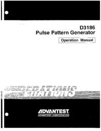 Manuale d'uso Advantest D3186