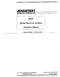 Bedienungsanleitung Advantest Q8347