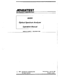 Manual del usuario Advantest Q8384