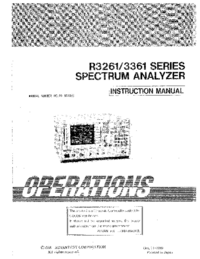 User Manual Advantest R3261