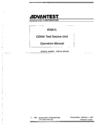 User Manual Advantest R3561L