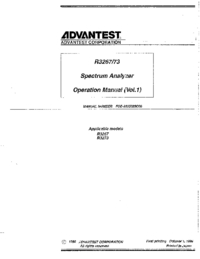 Manuale d'uso Advantest R3273