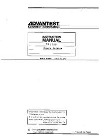 Bedienungsanleitung Advantest TR 1722