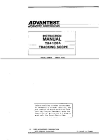 Manuale d'uso Advantest TR 4120A