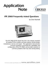 User Manual Aeroflex IFR 2968