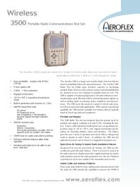 Fiche technique Aeroflex 3500