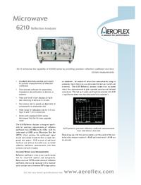 Fiche technique Aeroflex 6210