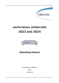 User Manual Aeroflex 2023