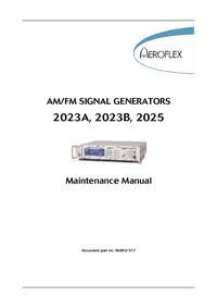 Manuale di servizio Aeroflex 2023B