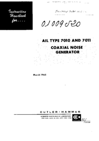 Service and User Manual AirborneInstruments 7011