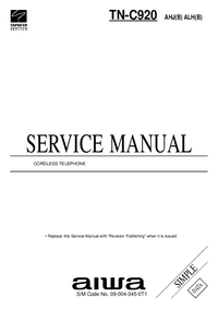 Service Manual Aiwa TN-C920 ALH(B)