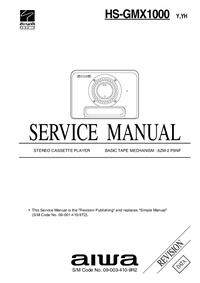 Manual de servicio Aiwa HS-GMX1000 YH