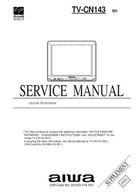 Service Manual Supplement Aiwa TV-CN143 NH