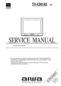 Dodatek Instrukcja Serwisowa Aiwa TV-CN143 NH