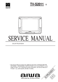 Service Manual Supplement Aiwa TV-S2011 U