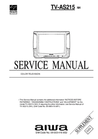 Servicehandboek Extension Aiwa TV-AS215 NH