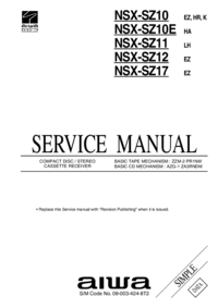 Service Manual Aiwa NSX-SZ10E HA