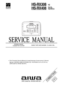 Service Manual Supplement Aiwa HS-RX408 YH