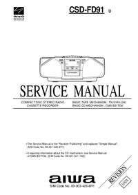 Instrukcja serwisowa Aiwa CSD-FD91 U