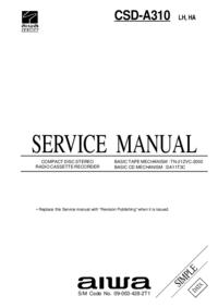 Manual de serviço Aiwa CSD-A310 LH