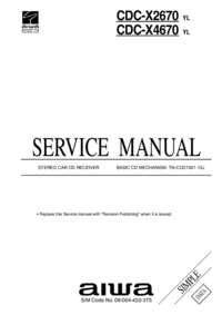 Manual de servicio Aiwa CDC-X2670 YL