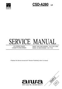 Instrukcja serwisowa Aiwa CSD-A280 LH