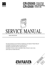 Manual de servicio Aiwa CR-DS505 YZ1(S)