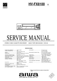 Instrukcja serwisowa Aiwa HV-FX8100 U