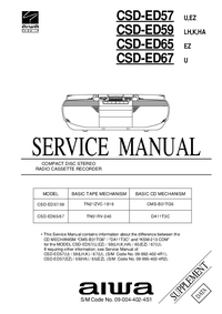 Serviço Manual Supplement Aiwa CSD-ED59 K